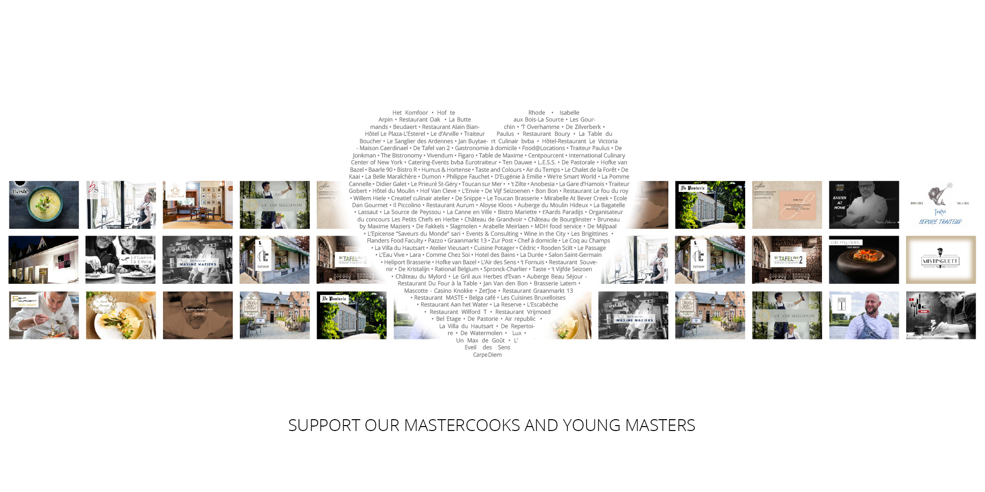 Support our Mastercooks and Young Masters